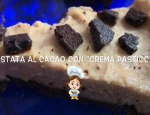 Crostata al cacao con crema